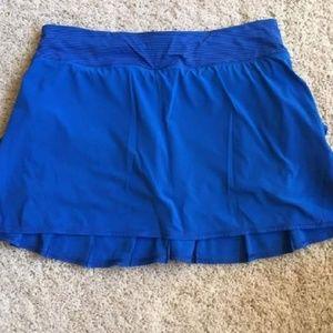 Baroque striped blue skirt size 8 regular